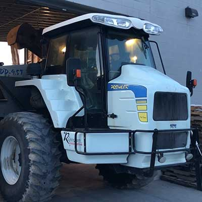 A white tractor.