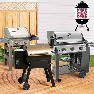 A collection of outdoor grilling sets.