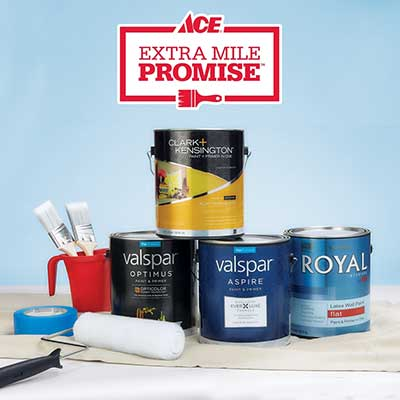 A small collection of paint products.