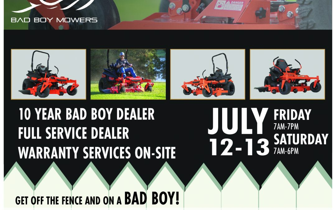 Bad Boy Mower Summer Sale