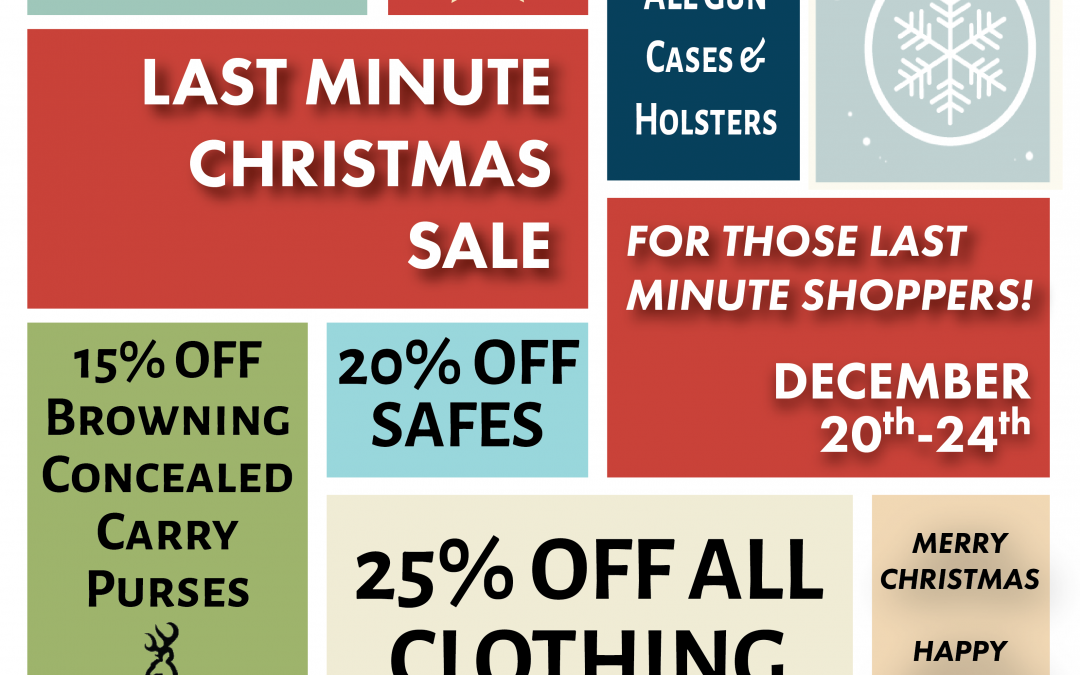 Last Minute Christmas Shopping Sale