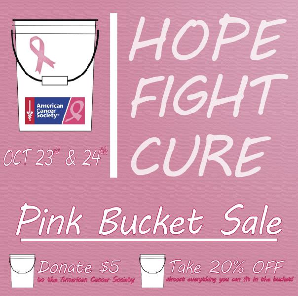 Pink Bucket Sale