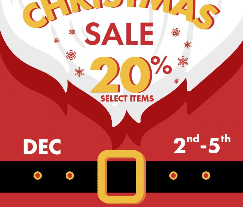 December 2 – 5 Christmas Sale