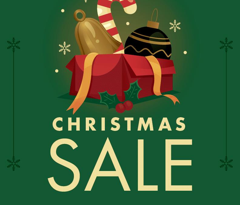 December 9 – 12 Christmas Sale